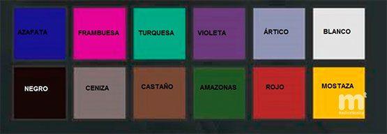 Colores camilla ginecológica 330R.
