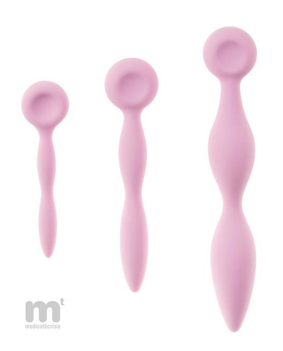 Tres dilatadores vaginales progresivos
