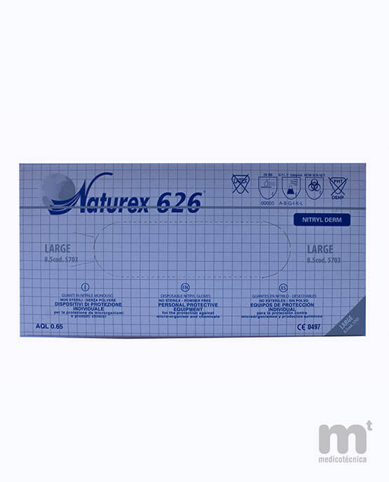 Guantes de nitrilo desechables talla L