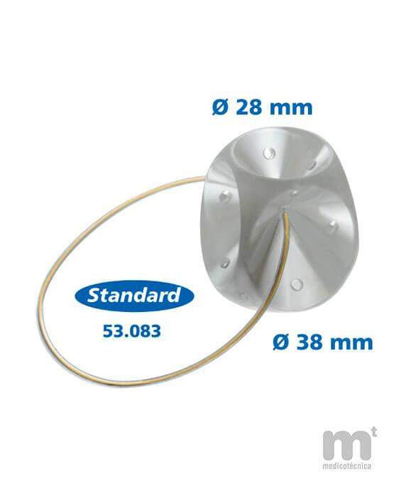 Talla mediana pesarios de silicona médica flexible